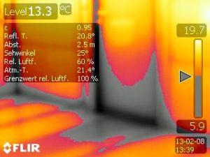 Schadenserkennung mittels Thermografie