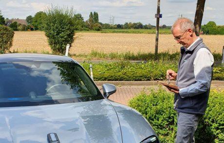 Test Porsche Taycan 4S - Elektrosmog Test durch Baubiologen - BBGeiger - Baubiologe und mehr